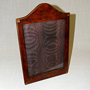 Antique Leather Picture Frame Golden Tooling