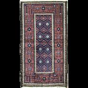 SALE Incredible Antique Belouch Rug, 3' x 6'