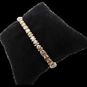 14kt Vintage diamond ladies line bracelet.
