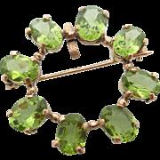 14kt 8ctw Peridot pin/pendant