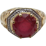 14kt Ruby ladies ring