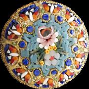 Micro-Mosaic Flower Bouquet Pin