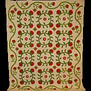SALE President's Wreath Applique Quilt FINE!