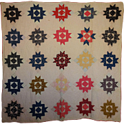 SALE Quilt ~c1899 Charm c.Crown of Thorns -great prints
