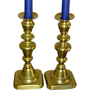 Brass Candlesticks- c. 1870 English