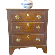 SALE Antique English Oak Chest of Drawers