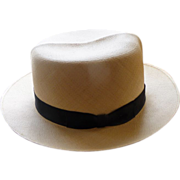 SALE Vintage Panama Hat Optimo Montecristi