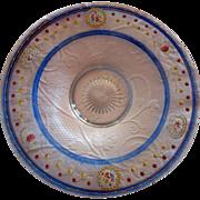 SALE Heisey Round Platter -painted design--sweet