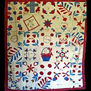 SALE Quilt Southern fundraiser Quilt Folk Art
