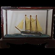 REDUCED Ship Diorama Miniature- old