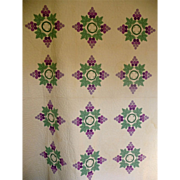 SALE Quilt ~Applique Grapes & Vines 1930's Gorgeous