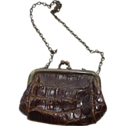 REDUCED Doll Purse- leather  c 1910