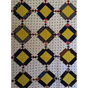 SALE FAB Antique Quilt ~lots of Calicos, Unused,  11-12spi