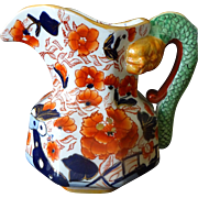 SALE Mason's COLONIAL English Ironstone Imari Serpent-handle Jug