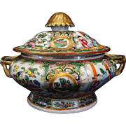 SALE Rose Medallion Sauce Tureen c. 1870 Chinese
