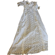 SALE Antique Christening Gown with Amazing handmade lace
