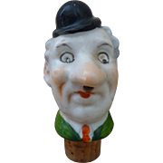 Vintage Figural Ceramic Bottle Stopper