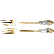 Tiffany & Co. Sterling Seafood Fork Pair, Polhemus Polhamus Silversmith c1855