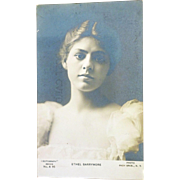 SALE old Postcard Ethel Barrymore young lady Rotograph