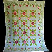 SALE Quilt c.1850 Applique Great Condition Lovely colors