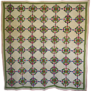 SALE Quilt ~ Postage Stamp 9-patch - 19th century ~Double Border