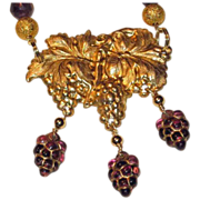 SALE 30% OFF 'Barolo' Amethyst, Gold Plated Stamping, Three Piece Set