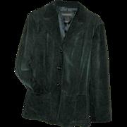 Banana Republic Suede Blazer/Jacket Hunter Green Size 14