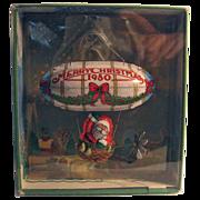 SALE 50% OFF 1980 Hallmark 'Santa's Flight' Pressed Tin Blimp Christmas Ornament Boxed