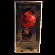 SALE 50% OFF 1981 Hallmark 'Sailing Santa' Hot Air Balloon Christmas Ornament Boxed