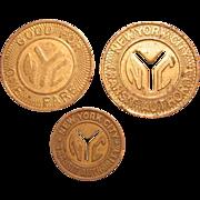 Three (3) New York City Transit Authority Tokens