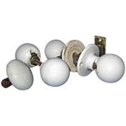 SALE 20% OFF Porcelain ROUND Door Knobs, Two Sets Plus One