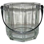 Arcoroc Octime Glass Ice Bucket With Chrome Handle