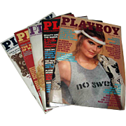 Five (5) 1982 Playboy Magizines April May June July and September