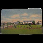 SALE 20% OFF U. S. Naval Hospital, Parris Island, SC 1942 Linen Postcard