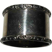 Victorian Silver Plated Napkin Ring With Scroll Edges No Monogram