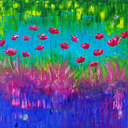 Poppies oil painting on canvas modern fine art by Fallini