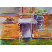 Venice canal original painting by Monica Fallini
