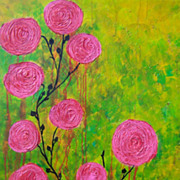 "Pink Roses painting 24"" x 36"" by Fallini"