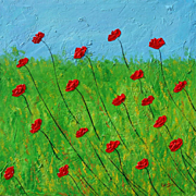Red Poppies original painting modern art by Fallini