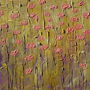 Pink Poppies textured original painting modern art by Fallini