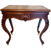 SALE Library Table  American Victorian in Walnut c. 1870