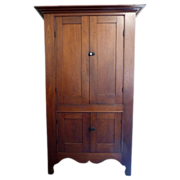 SALE Shaker Wall Cupboard in Walnut American Circa 1870