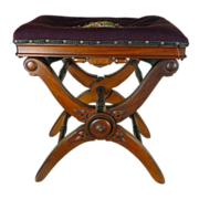 SALE Adjustable Piano Stool  American Victorian c. 1870s