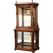 SALE China Cabinet Display Cabinet for Silver, Cut Glass, Collectibles  Victorian c. 1880