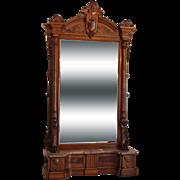 American Victorian Hall Mirror c. 1870s