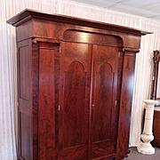 Empire Wardrobe Baltimore / Philadelphia c. 1820 restored