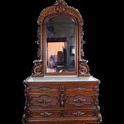 Marble Top Dresser American Victorian c. 1870