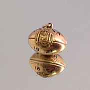 Unique 1921 Navy Army Assistant Coach 14k Football Charm