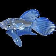 Swarovski Crystal Siamese Fighting Fish Glass Sculpture