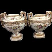 Pr Antique German Porcelain Urns Vases Helena Wolfsohn Dresden Germany